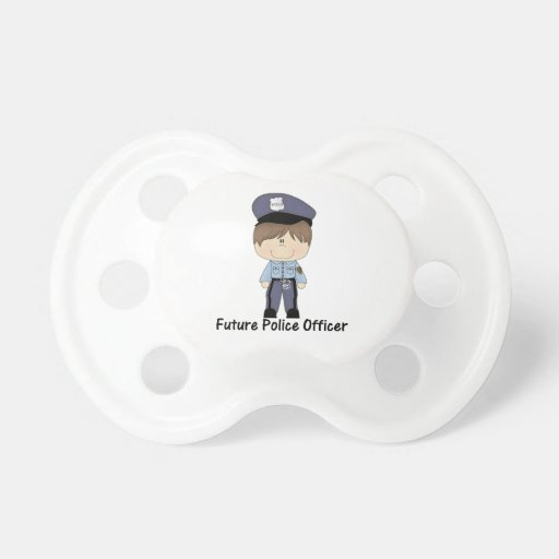 future police officer (boy) pacifier