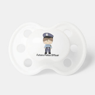 future police officer (boy) pacifiers