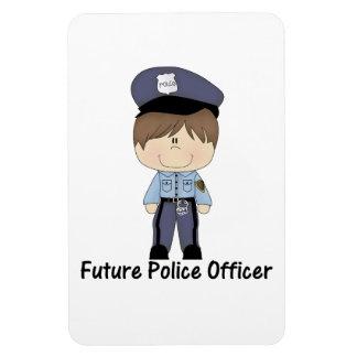 future police officer (boy) rectangular photo magnet