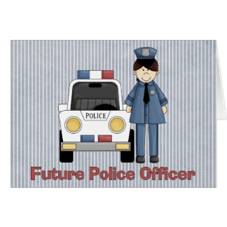 Future Police Officer - Female Card