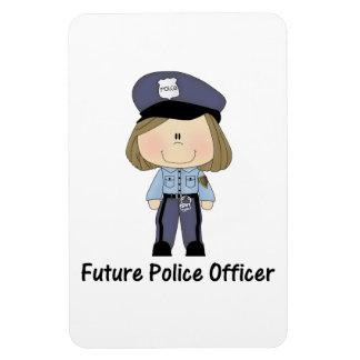 future police officer (girl) rectangular photo magnet
