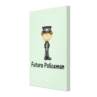 future policeman stretched canvas print