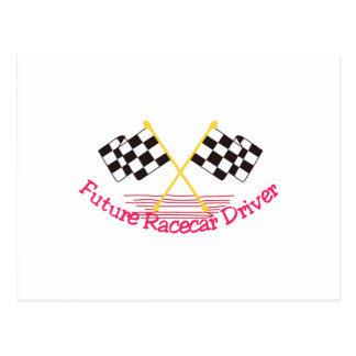 Future Race Car Driver Postcard