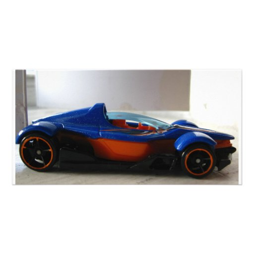 Future Race Car Toy Personalized Photo Card