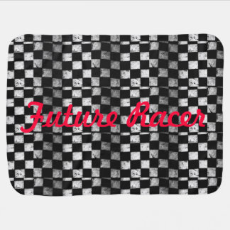 Future Racer Checkered Flag Baby Blanket
