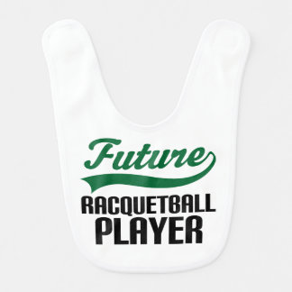 Future Racquetball Player Baby Bib