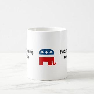 Future right-wing conspirator classic white coffee mug