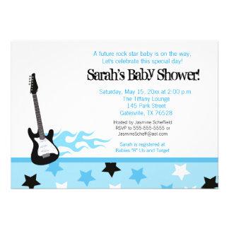 Future Rocker Baby Shower Invitation Blue