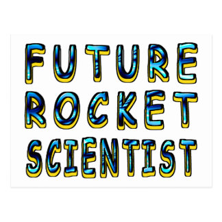 Future Rocket Scientist In 3D Postcard