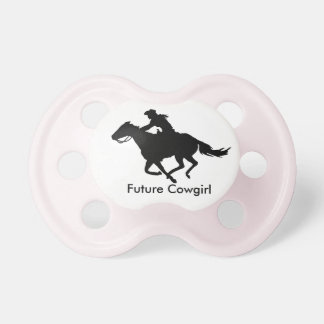 Future Rodeo Cowgirl Barrel Racer Baby Pacifier