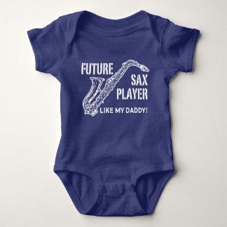 Future Sax Player Like My Daddy Baby Bodysuit
