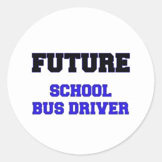 Future School Bus Driver Round Stickers