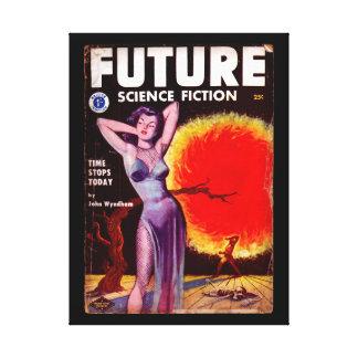 Future Science Fiction 13 (UK) [1953-01]_Pulp Art Canvas Print