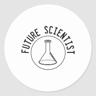 Future Scientist Classic Round Sticker