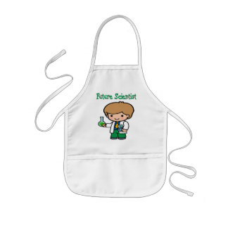 Future Scientist Dark Skin Kids Apron