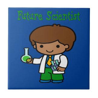 Future Scientist  Dark Skin Tile
