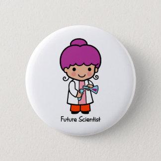 Future Scientist - Girl 6 Cm Round Badge