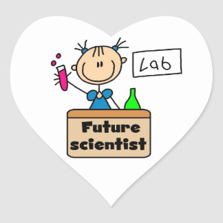 Future Scientist Heart Sticker