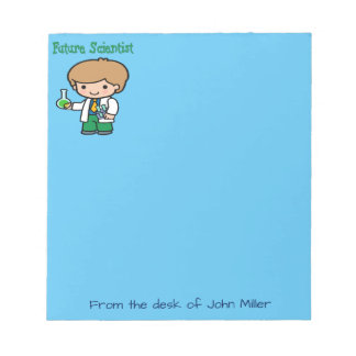 Future Scientist When I Grow Up Notepad