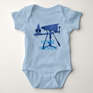 FUTURE SCIENTISTS 18TH CENTURY MICROSCOPE BLUE BABY BODYSUIT