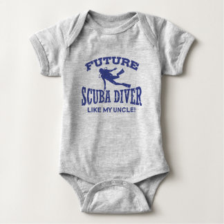 Future Scuba Diver Like My Uncle Baby Bodysuit