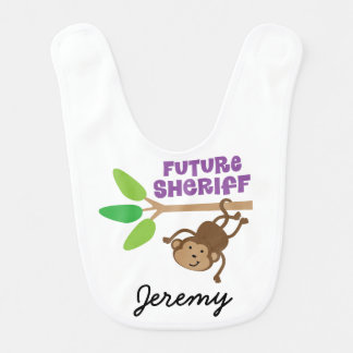 Future Sheriff Personalized Baby Bib