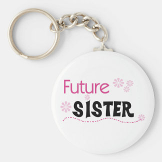 Future Sister Basic Round Button Key Ring