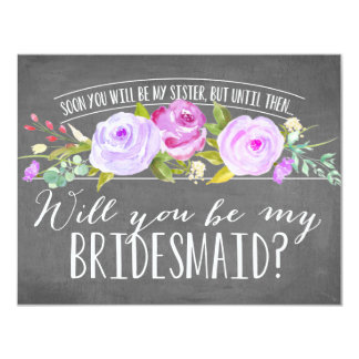 Future Sister | Bridesmaid 11 Cm X 14 Cm Invitation Card