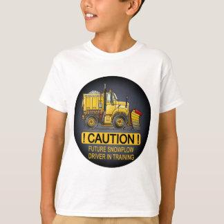 Future Snow Plow Truck Driver Kids T-Shirt