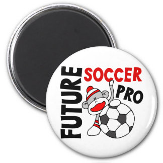 Future Soccer Pro Sock Monkey 6 Cm Round Magnet