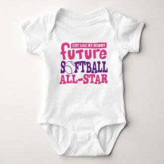 Future Softball All Star-Mommy Baby Bodysuit