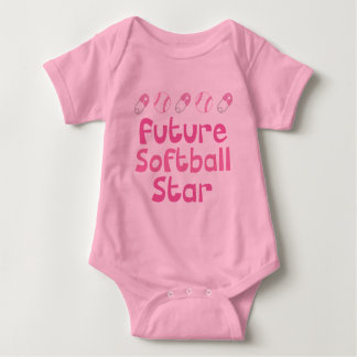 Future Softball Player (Cute) Baby Bodysuit
