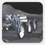 Future space exploration missions 8 square sticker