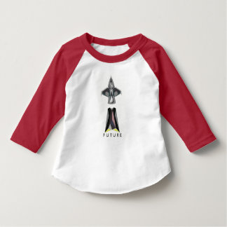 Future Spaceship themed Toddler Baseball Tee