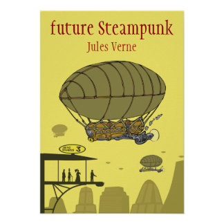future steampunk - Jules Verne Poster