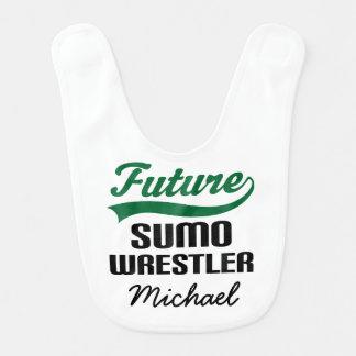 Future Sumo Wrestler Personalized Baby Bib