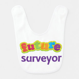 Future Surveyor Kids Occupation Baby Bib