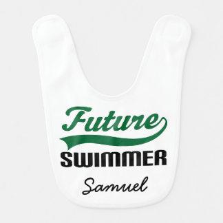 Future Swimmer Personalized Baby Bib