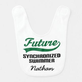 Future Synchronized Swimmer Personalized Baby Bib