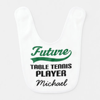 Future Table Tennis Player Personalized Baby Bib