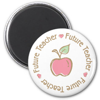Future Teacher Apple 6 Cm Round Magnet