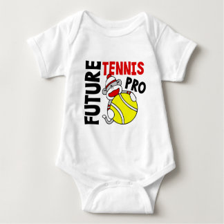 Future Tennis Pro Sock Monkey Baby Bodysuit