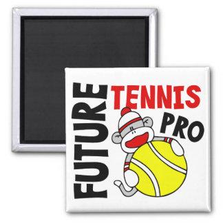 Future Tennis Pro Sock Monkey Refrigerator Magnet