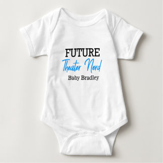 Future Theater Nerd Blue Personalized Baby Bodysuit