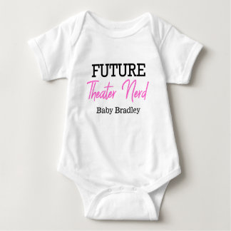 Future Theater Nerd Pink Personalized Baby Bodysuit
