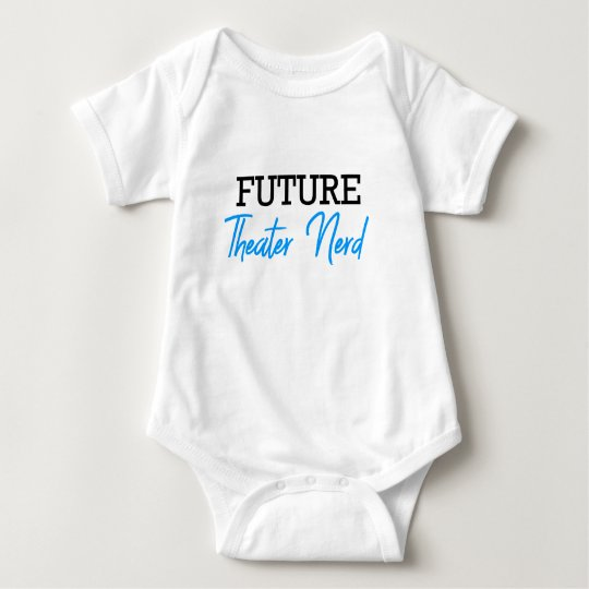 Future Theatre Nerd Blue Baby Bodysuit