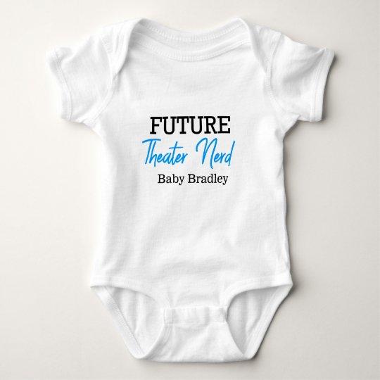 Future Theatre Nerd Blue Personalised Baby Bodysuit