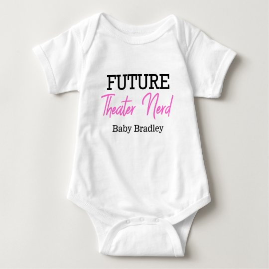 Future Theatre Nerd Pink Personalised Baby Bodysuit
