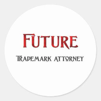 Future Trademark Attorney Round Sticker