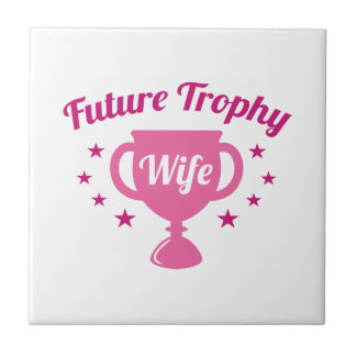 Future Trophy Wife Small Square Tile